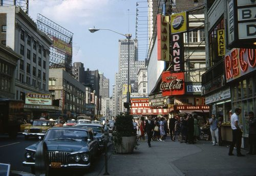 Broadway looking North from 50th Street 1962 NY