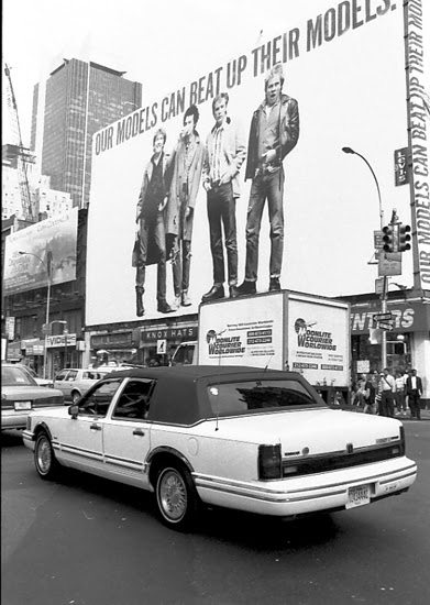 New York. Car and giant poster midtown sept95 3blog