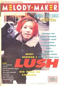 1990.12.15 - Melody Maker - Lush Go Wild In Canada - Cover