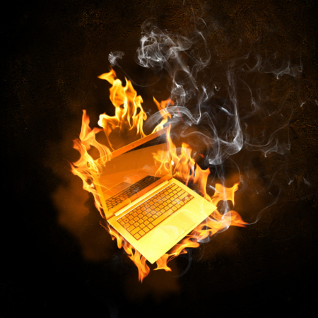 IStock_Computer_On_Fire_000026687122Small