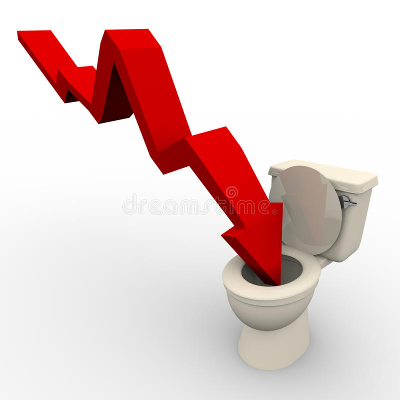 Arrow-plunging-down-toilet-13726667