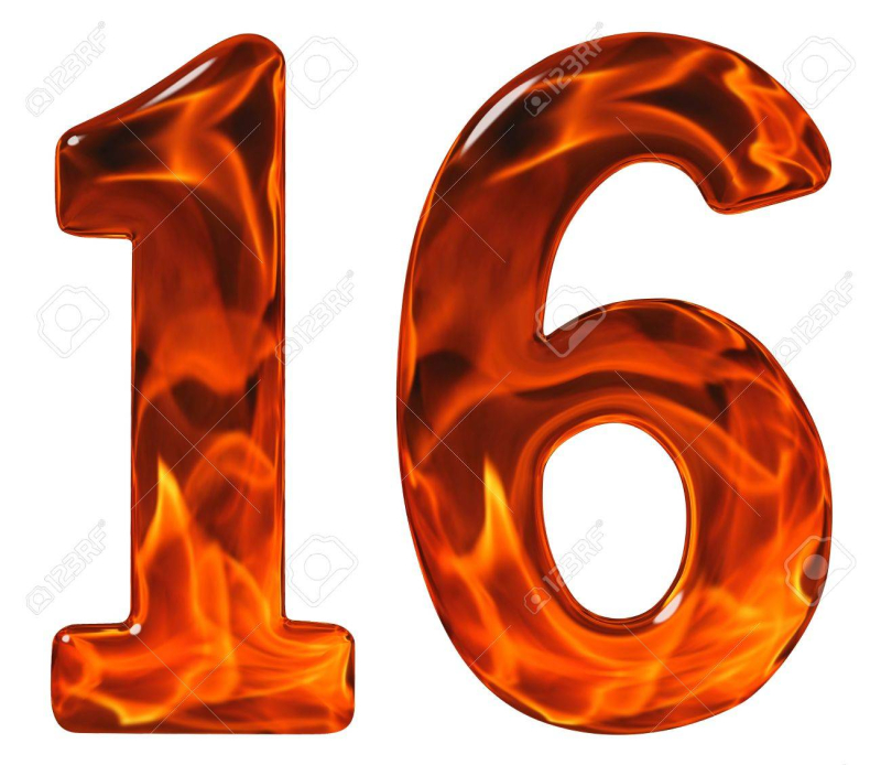 68492455-16-sixteen-numeral-from-glass-with-an-abstract-pattern-of-a-flaming-fire-isolated-on-white-backgroun